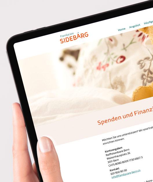 Corporate Design, Webdesign Familycare Sidebärg